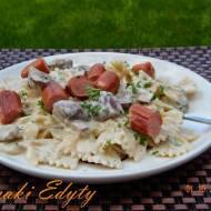 Makaron z gorgonzolą i brie