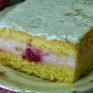 Ciasto malinowo jeżynowe z budyniem malinowym