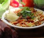 Pomidorowy makaron ze schabem i chorizo - Pudliszki - pomidorowe inspiracje / mięso