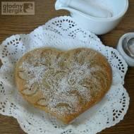 Blondie - sernik z kaszy jaglanej z gruszkami (bez sera, mleka, glutenu i jajek)