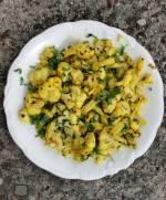 Kalafior i fasolka w kurkumie i ziołach pieczone