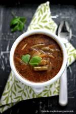 Zupa pomidorowa z zieloną fasolką