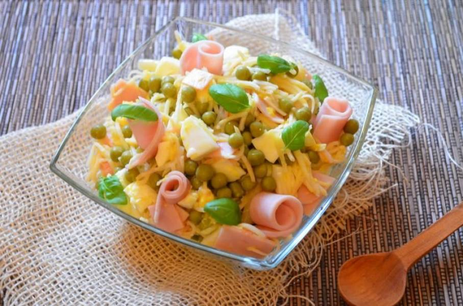 Sałatka z selera i szynki konserwowej