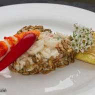Sałatka z krewetkami i ryżem