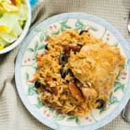 Hiszpański kurczak z ryżem ( jednogar ). / Spanish chicken and rice  ( one pot ).