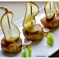 Mielone z  muffinek  z chrzanem i pastą wasabi