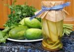 przetwory na zimę - ogórki w słodkiej zalewie curry