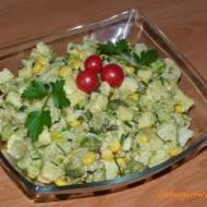 Sałatka ziemniaczano-brokułowa