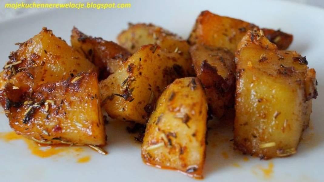 Ziołowo-czosnkowe pieczone ziemniaki