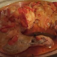Udka zapiekane z papryką i cebulą
