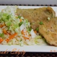 Ryż z warzywami i schabowym