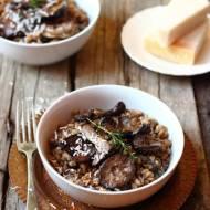 """Farrotto"" - risotto z pszenicy farro z grzybami"