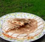 Dobrze nadziana tortilla z kurczakiem