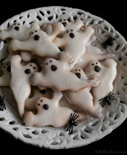 Ciasteczka z Lukrem - Duchy na Halloween