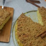 Ciasto jaglane z kruszonką cynamonową