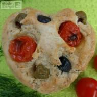 Foccacia - bułki z oliwkami, pomidorami i ziołami (bez glutenu, mleka i jajek)