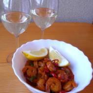 Maślane krewetki z czosnkiem i chilli