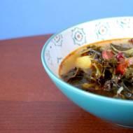 Zupa z jarmużem, chorizo i czerwoną fasolą