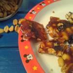 Przysmak orzechowo-krówkowy z żurawiną