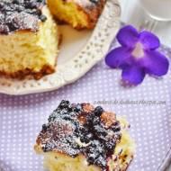 Ciasto drożdżowe z jagodami - bez wyrastania!