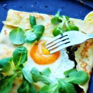 Sobota z jajem #7  No galette. No bretonne. Ale jajo sadzone!