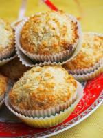 Kokosowe muffinki z wafelkami