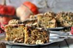 Ciasto orzechowe z dynią i lukrem