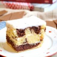 Ciasto zebra z kremem cytrynowym