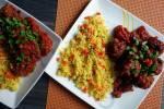 Marokańskie pulpety z pistacjami i wiśniami  w pikantnym sosie pomidorowym