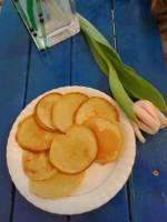 Racuszki bananowe na cieście biszkoptowym