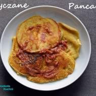 Gryczane pancakes z musem rabarbarowym