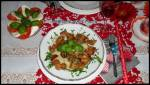 Makaron papardele z kurczakiem i pieczarkami
