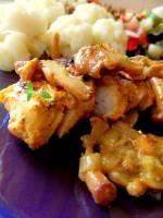 Grillowana pierś kurczaka w sosie kurkowym