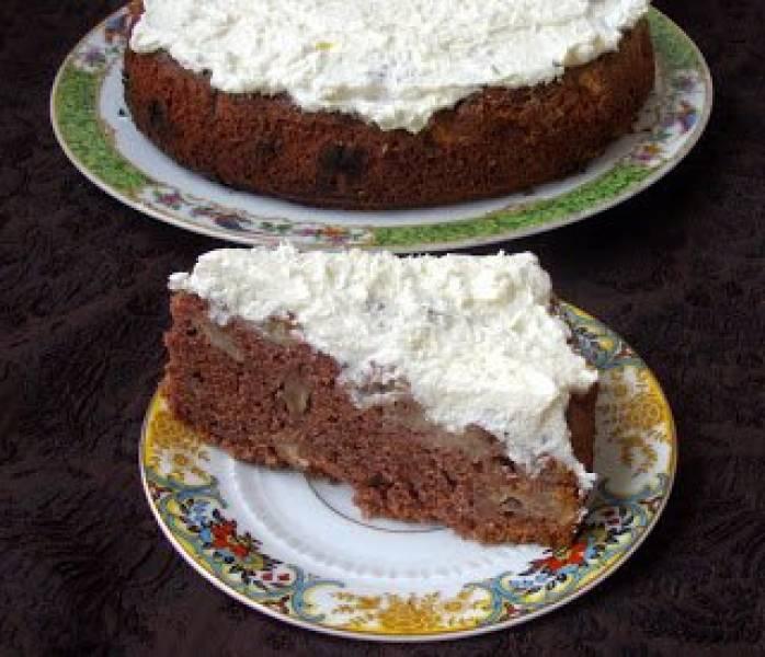 marchewkowo-jabłkowe budyniowe ciasto ze śmietaną z nutą kokosu...