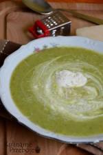 Zupa krem z brokułów, z boczkiem
