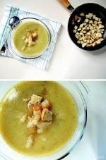 Zupa krem z brokułów z czosnkowymi grzankami