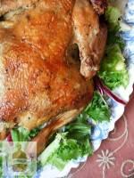 Pieczony kurczak w miodzie i rozmarynie