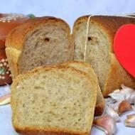 Chleb na zakwasie z pieczonym czosnkiem, wg Hamelmana