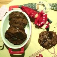 cookies z gorzką czekoladą