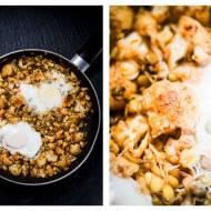 Kalafior i kiełki z jajkiem sadzonym