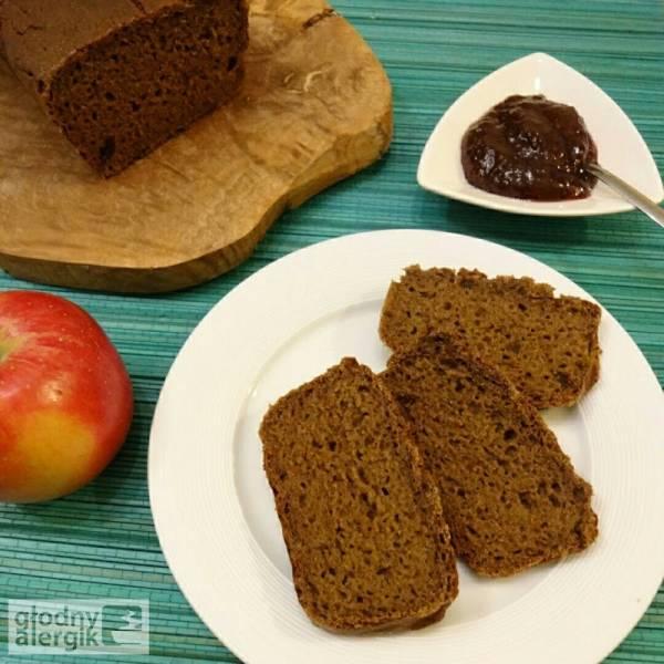 Chleb ryżowo - gryczany ze śliwkami (bez glutenu, mleka i jajek)