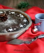Makowiec na czekoladowym spodzie, z dodatkiem kandyzowanej skórki cytrusowej i orzechów