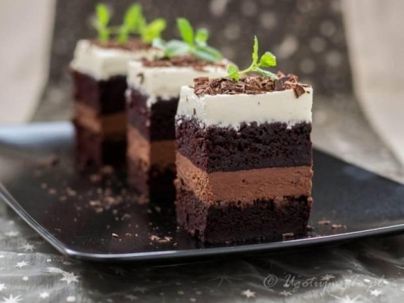 Ciasto czekoladowe z kremem
