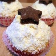 Śnieżno - kokosowe muffinki