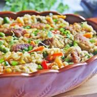 Mięsne kopytka na orientalnym ryżu