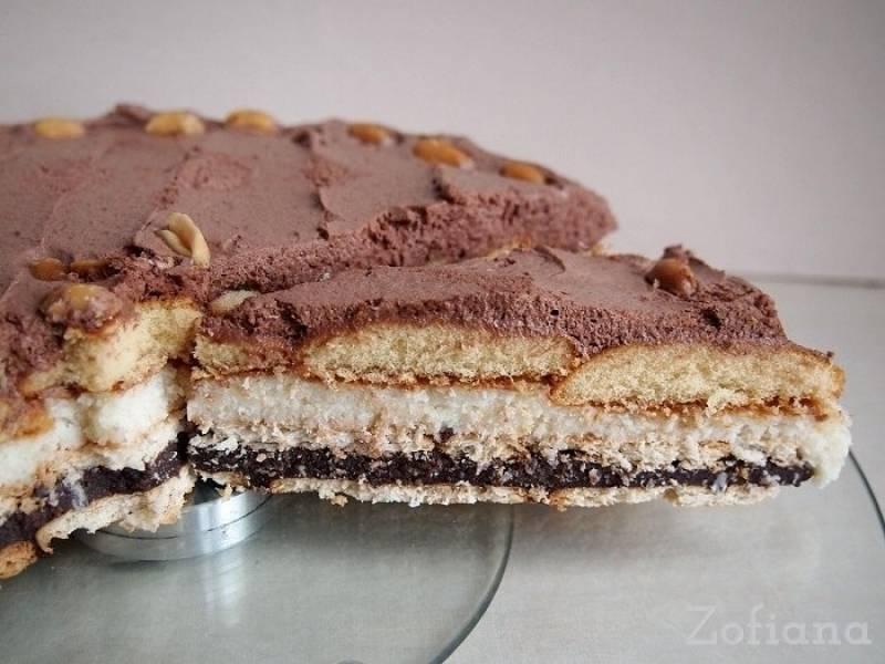 Smakowite ciasto czekoladowo-kokosowe bez pieczenia