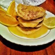 Placuszki jaglane z sosem cytrynowo-pomarańczowym