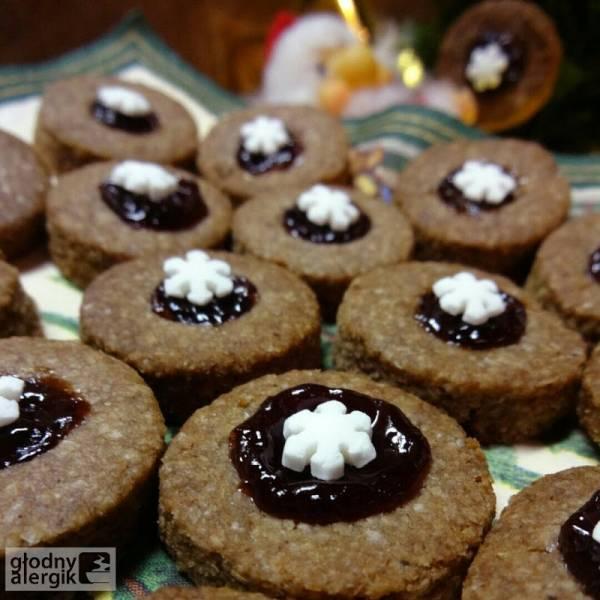 Ciasteczka cynamonowe z powidłami śliwkowymi (bez glutenu, mleka i jaj)