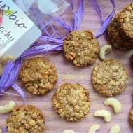 Owsiane ciasteczka z karmelizowanymi ekologicznymi orzechami nerkowca Symbio