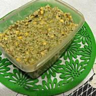 Zapiekanka ryżowa z brokułem i pieczarkami.